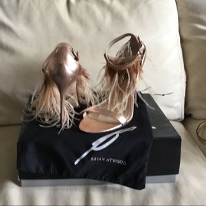 Genuine Brian Atwood ostrich feather pumps size 10
